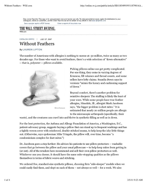 Without Feathers - WSJ Article